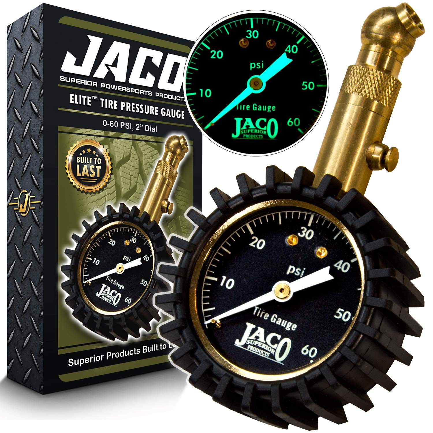 JACO Elite Tire Pressure Gauge - 60 PSI by JACO Superior Products