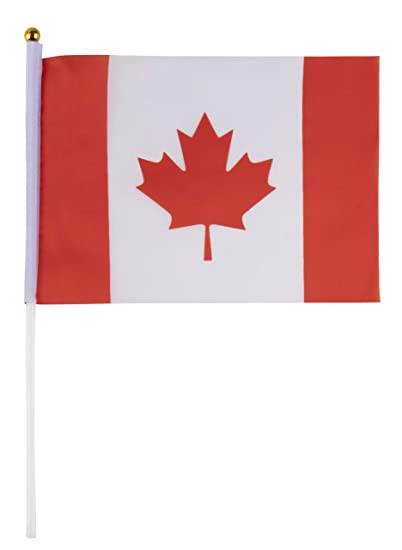 ac9081badaa00f Amazon.com   Juvale Canadian Desk Flags - 24-Piece Desktop Flags with Stick  and Gold Stand