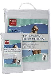 Pikolin Home - Set híper-transpirable e impermeable con protector de colchón (135 x 190/200 cm) y…