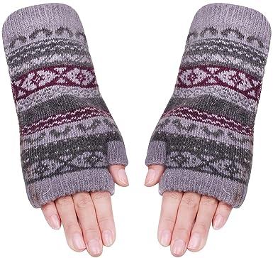Wool Handwarmers Fingerless Glove Mittens For Women Girls Knit Arm