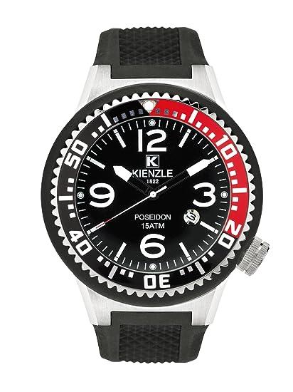 Kienzle 720/3041 - Reloj para hombre, correa de silicona color negro: Amazon.es: Relojes