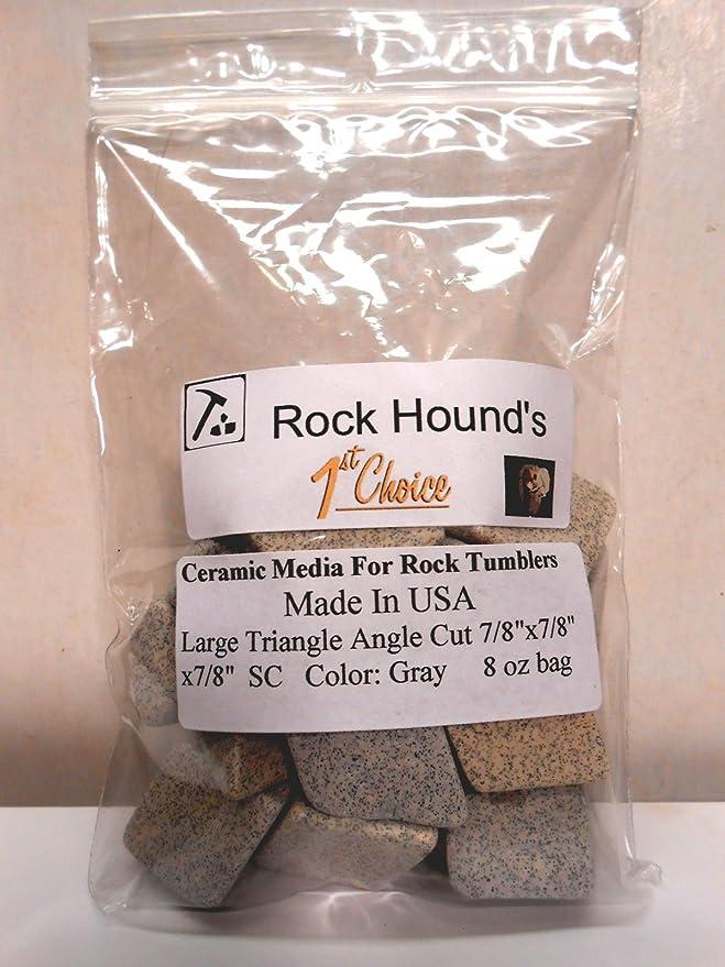 Rock Hounds 1st Choice Rock Tumbler Polishing Ceramic Media Big 1//2 Lb Bag