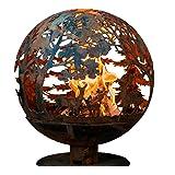 Esschert Design FF1011 Laser Cut Wildlife Fire Pit Globe, Large, Wildlife large