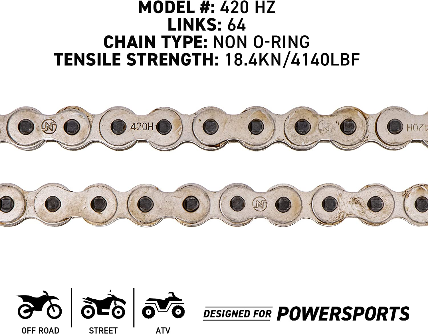 NICHE 420 Drive Chain 78 Links Standard Non O-Ring with Connecting Master Link