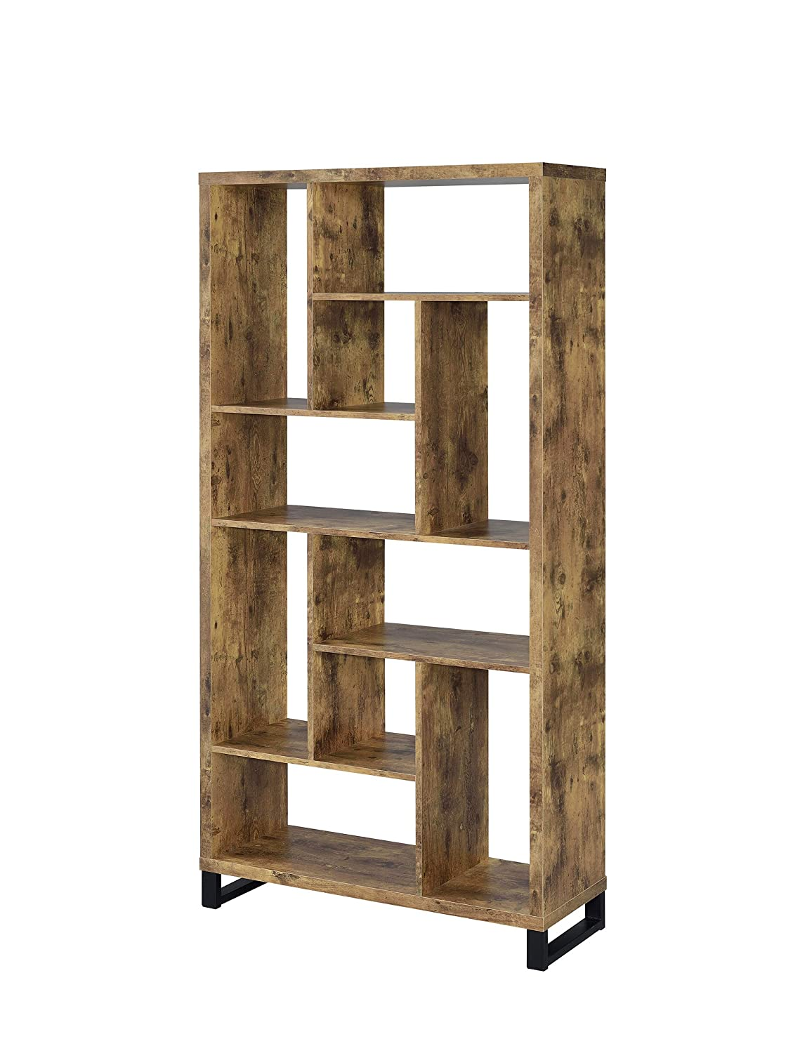 Coaster Home Furnishings 801236 Industrial Rustic Antique Circuit Scribe Conductive Ink Basic Kit Electroninks Cskitbasic Nutmeg Open Bookcase With Different Sized Cubbies