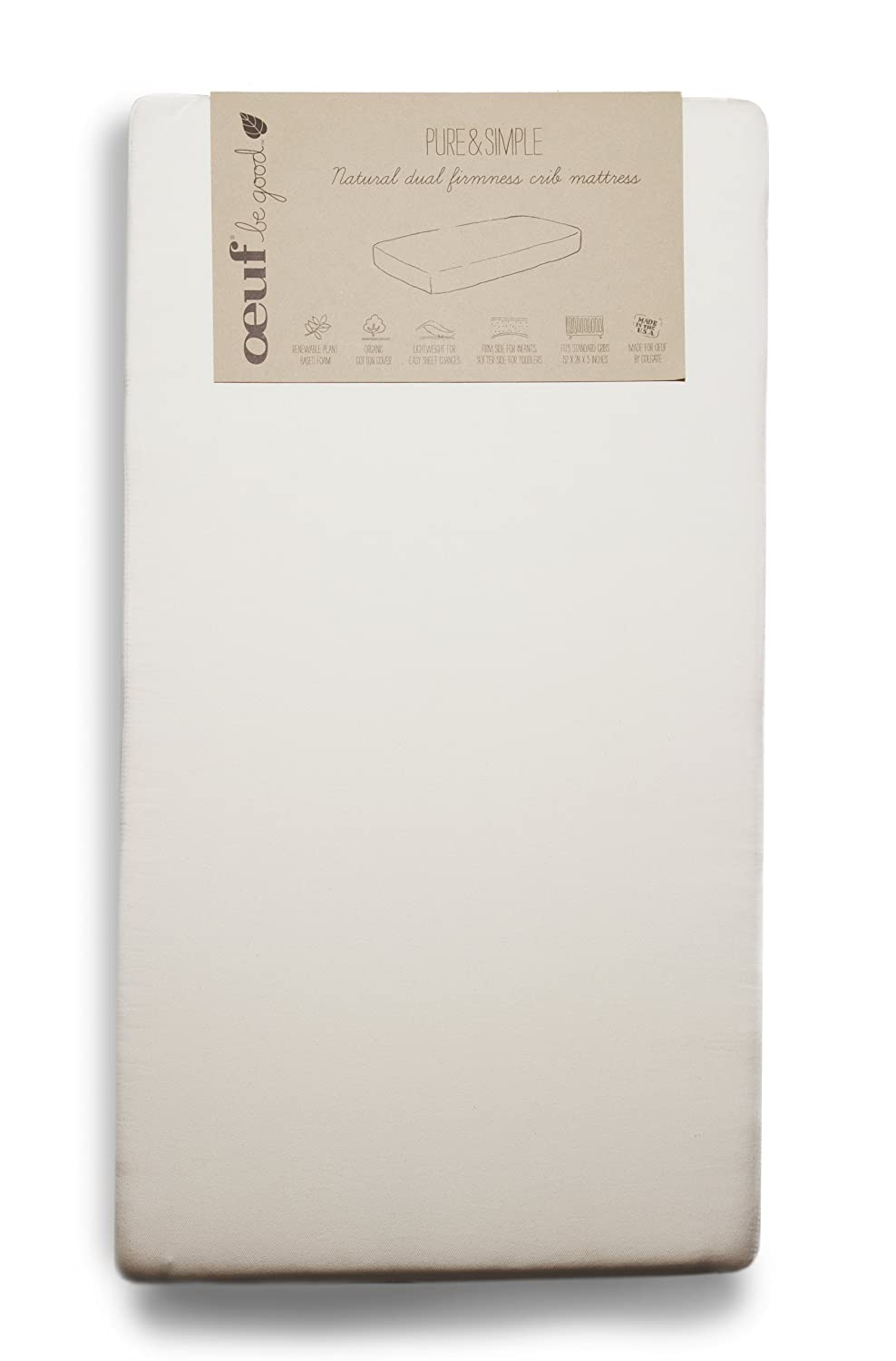 amazon com oeuf pure and simple natural dual firm crib mattress