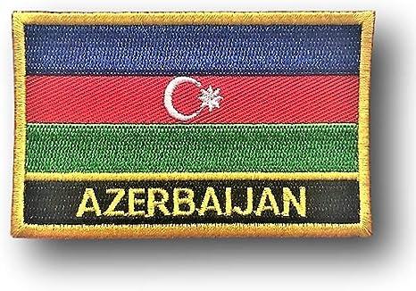 AZERBAIJAN FLAG embroidered iron-on PATCH AZERBAIJANI EMBLEM applique