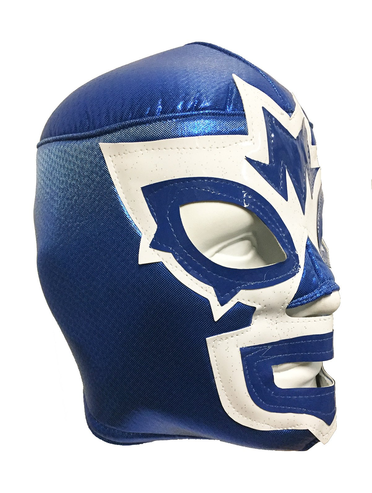 MASK MANIAC Adult Lucha Libre Wrestling Mask (pro-fit) Costume Wear - Blue/White by Mask Maniac