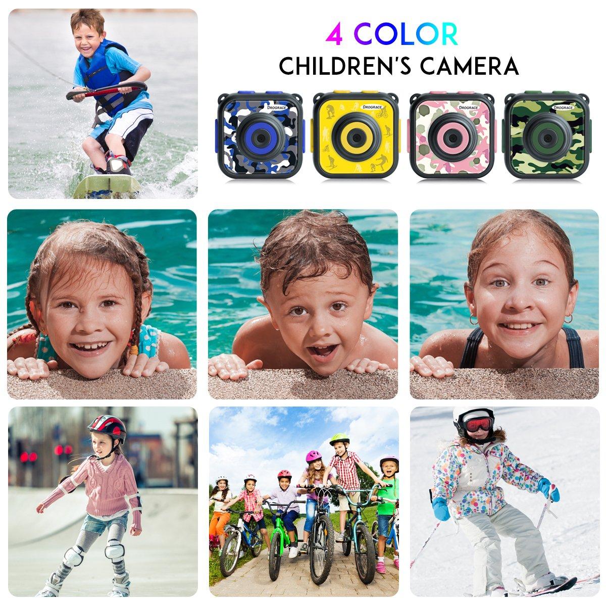 Amazon.com: DROGRACE Children Kids Camera Waterproof Digital Video ...
