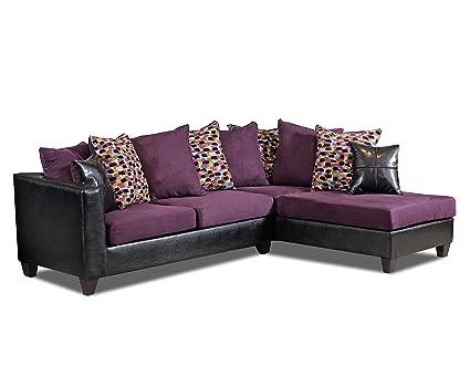 Chelsea Home Furniture Bates Sectional In Dash Fiesta