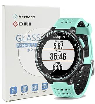 maxhood Garmin Forerunner 235 230 220 225 630 620 Protector de pantalla de cristal templado,