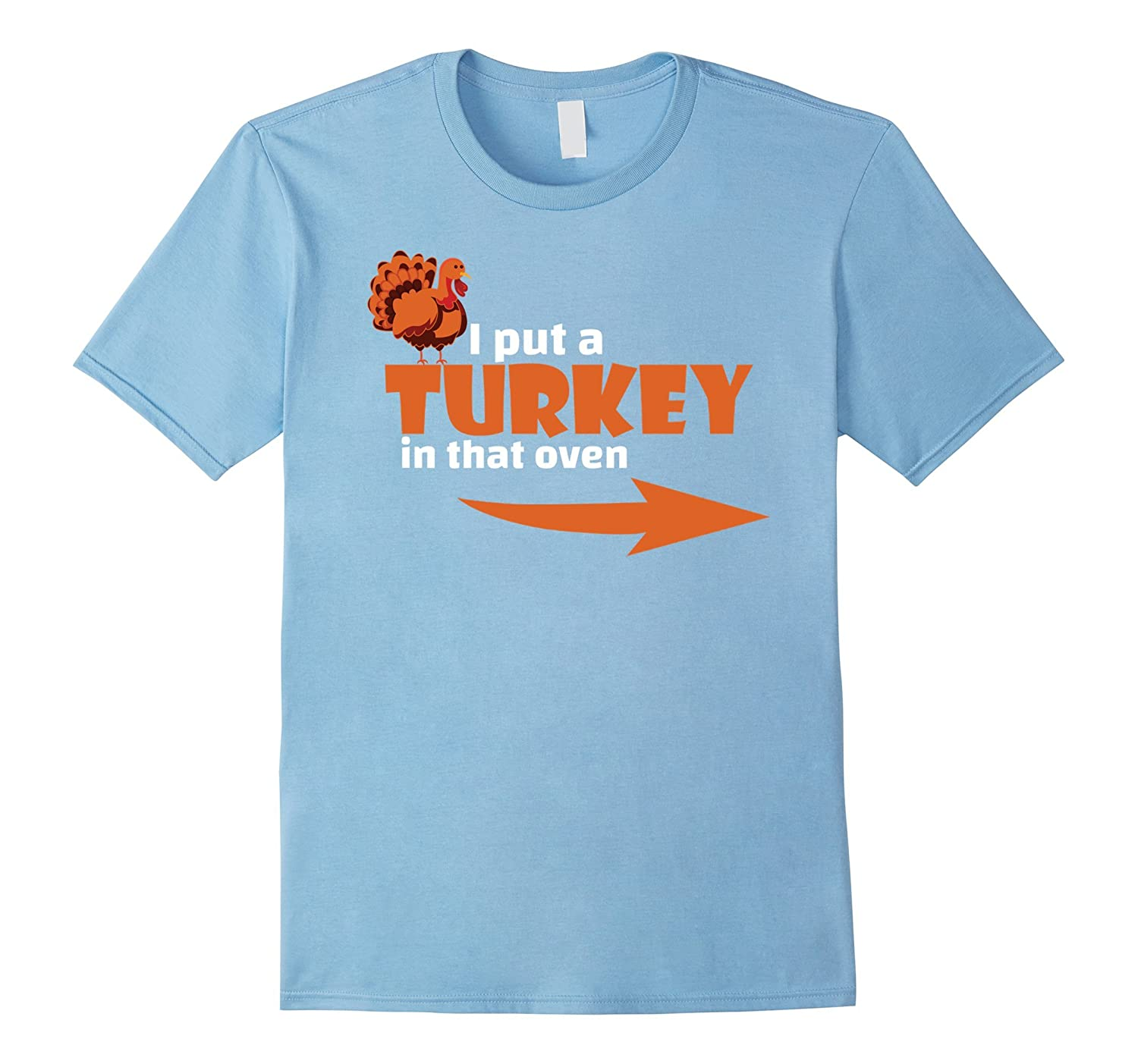 51beae02 Thanksgiving Turkey T-shirt Expecting Dad Pregnant Wife Tee-ANZ ...