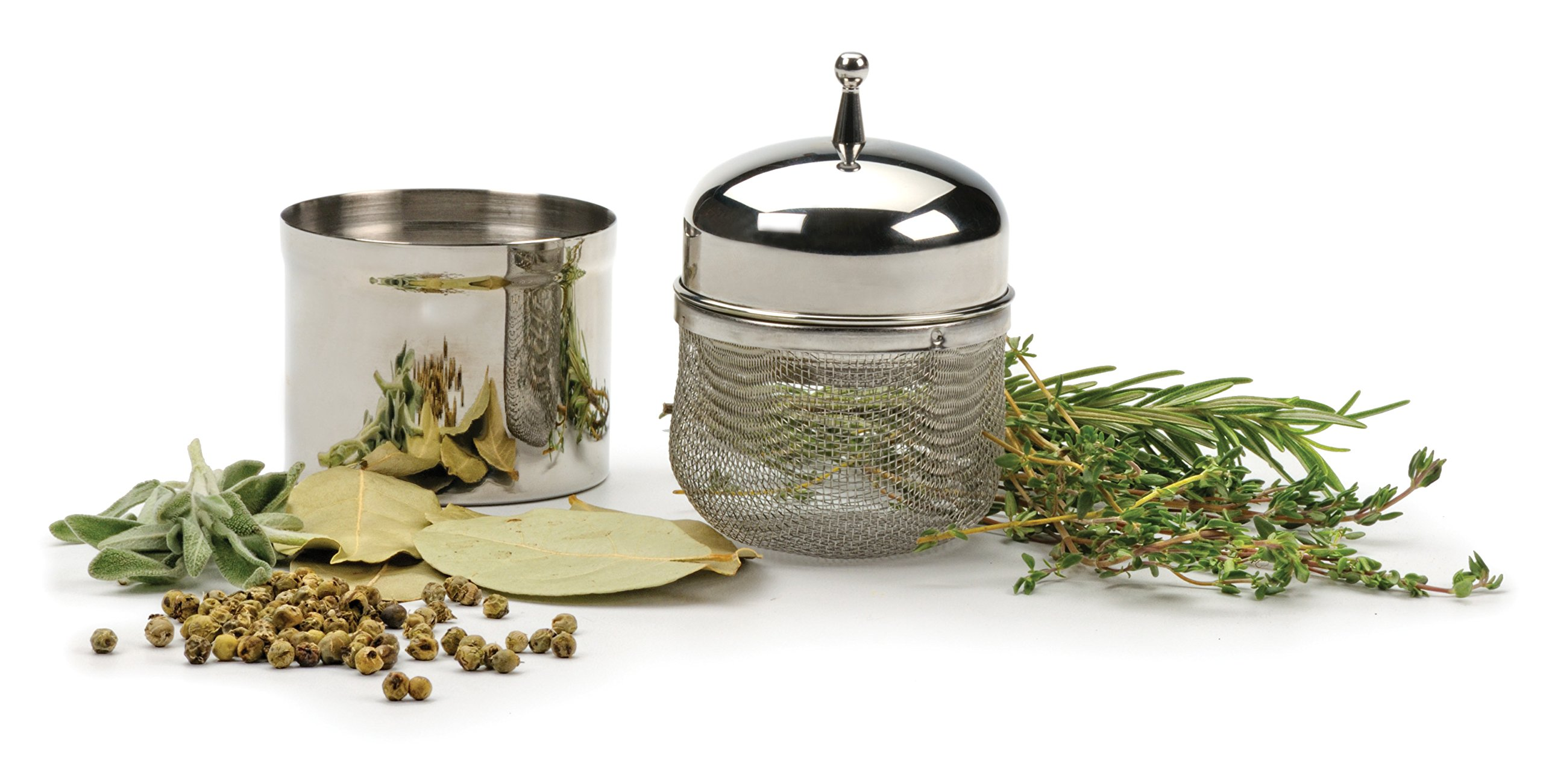 RSVP Endurance Stainless Steel Floating Spice Ball Infuser, 1/2-Cup capacity by RSVP International (Image #3)