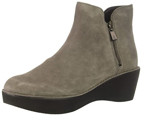 71d28f6006f Kenneth Cole REACTION Women's Prime Platform Bootie with Side Zip Ankle Boot,  Concrete, 10