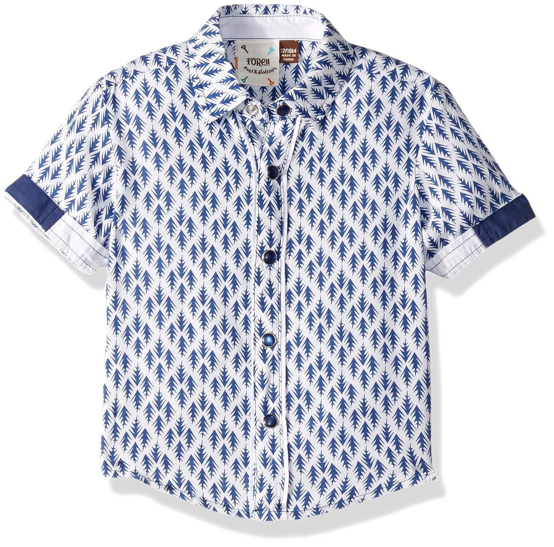 Axel /& Hudson Boys Arrow Print Shirt Navy 12//18 Months Fore!