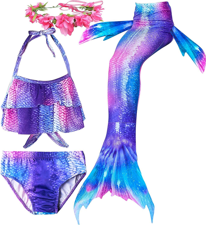Always beautiful Mermaid Swimsuit Tail Two Ways to Use Beach Fun Girl Bikini Suit