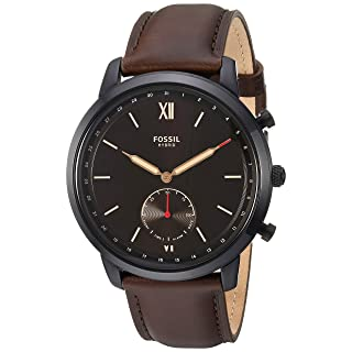Fossil Men's Neutra Stainless Steel Hybrid Smartwatch, Color: Black/Brown (Model: FTW1179)