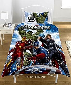 Parure Housse De Couette Linge De Lit Enfant Garcon Marvel Avengers