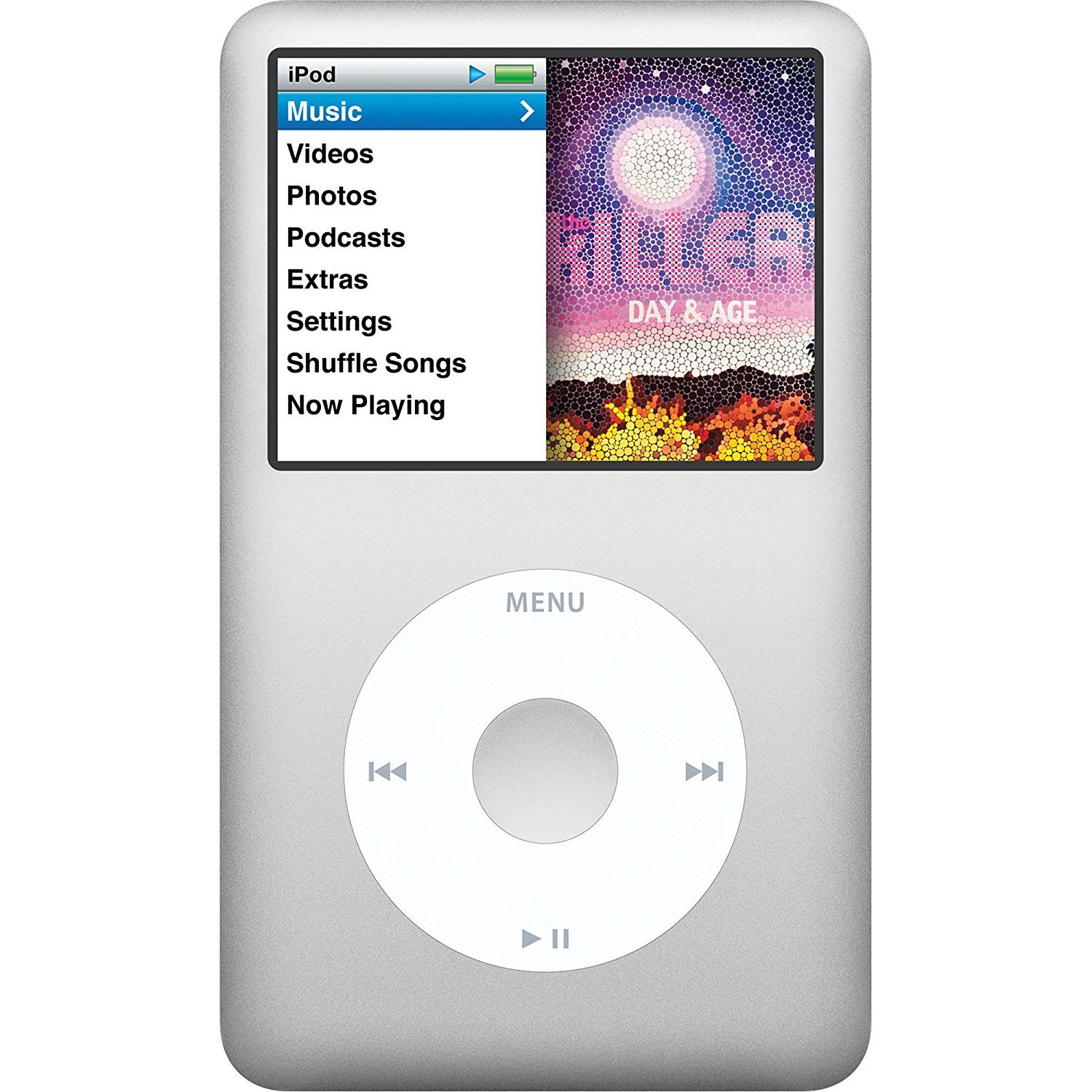 Apple iPod classic 120 GB Silver 6th Generation (Discontinued by Manufacturer) Non Retail White Box Packaging by Gadgets World