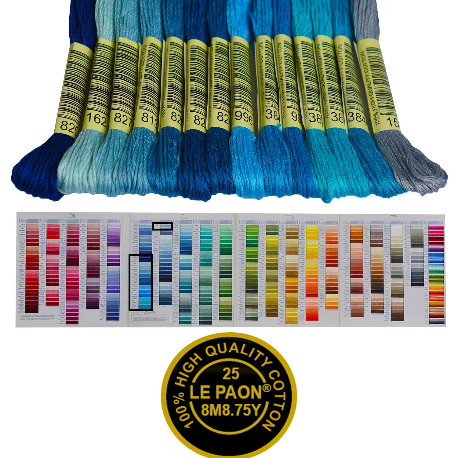 Crafts Floss Rainbow Color Cross Stitch Threads 50 Skeins Per Pack and Free Set of 11 Pcs Embroidery Tool Kits Friendship Bracelets Floss Embroidery Floss