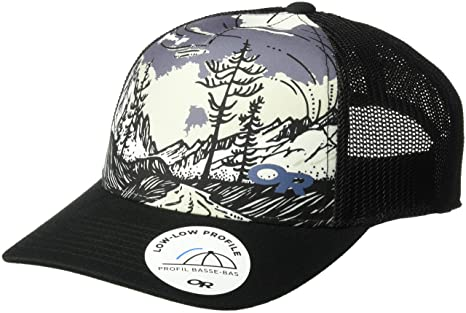 18dff4cd Amazon.com: Outdoor Research Alpenglimmer Trucker Hat, Black, 1size ...