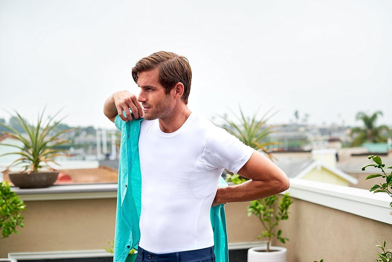 Thompson Tee Mens Sweat Proof Undershirts With Underarm Sweat Pads Crew Original Fit