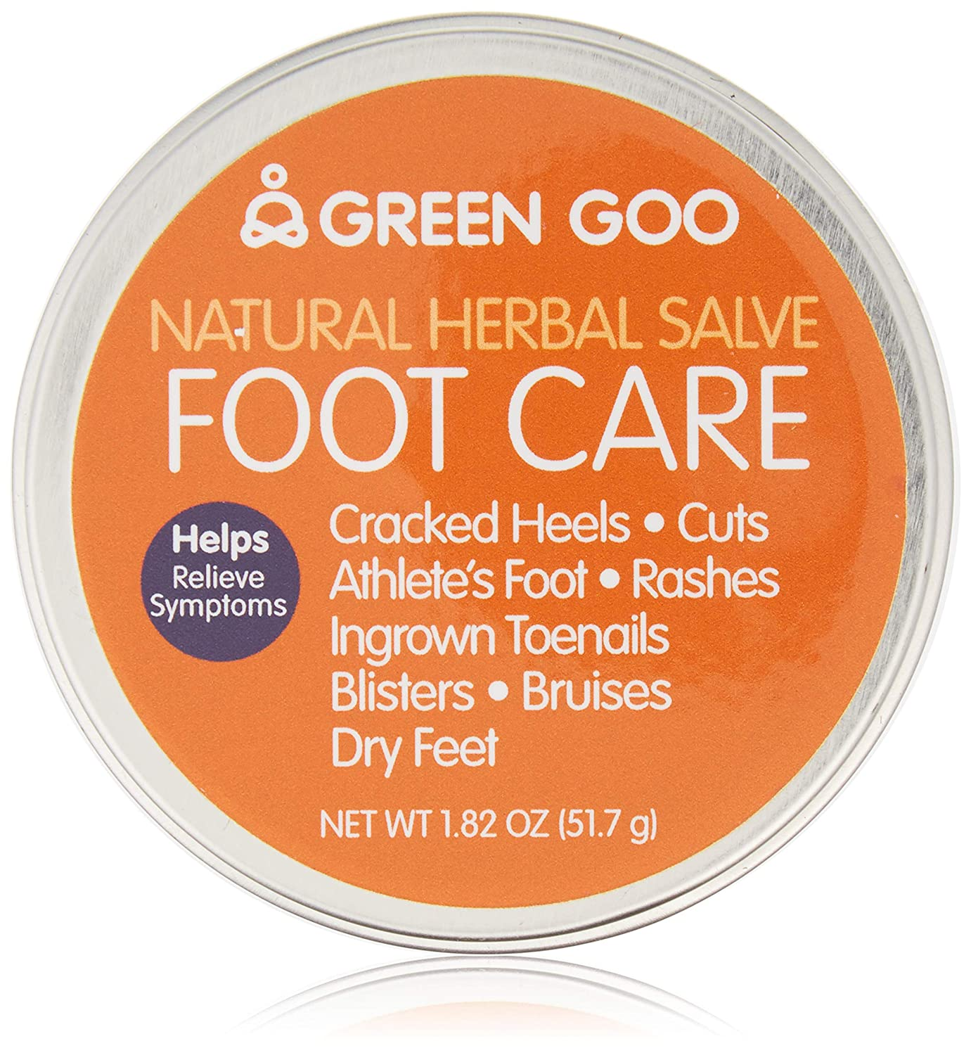 Green Goo All-Natural Skin Care, Foot Care, Large Tin, 1.82 Ounce (Packaging May Vary)