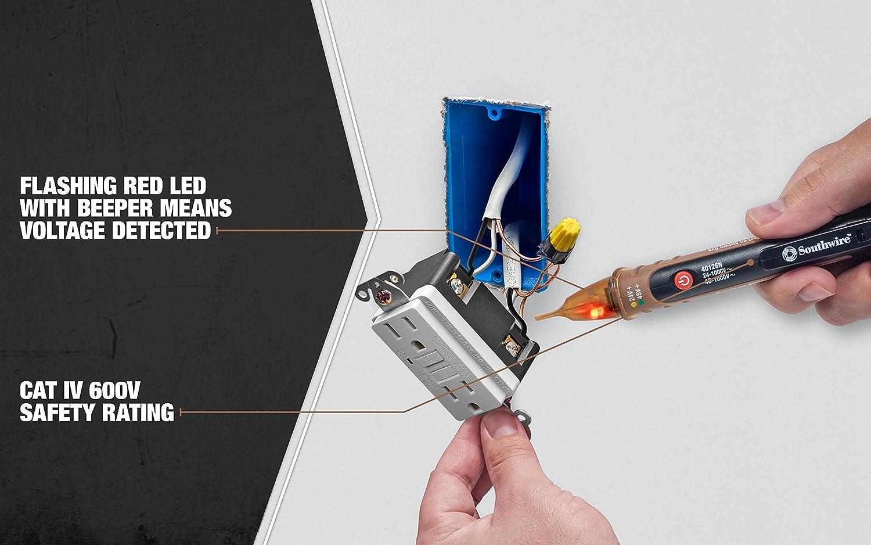 Southwire Tools & Equipment 40126N NCV Dual Range Pen Type Detector ...
