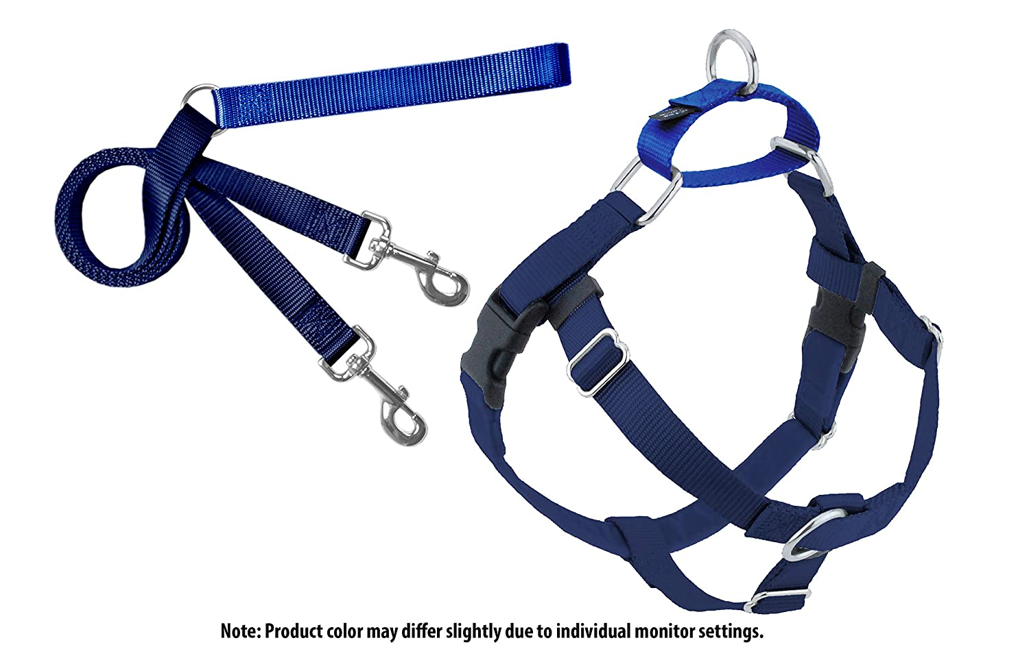 Freedom No Pull Harness and Leash Training Kit Navy Lg