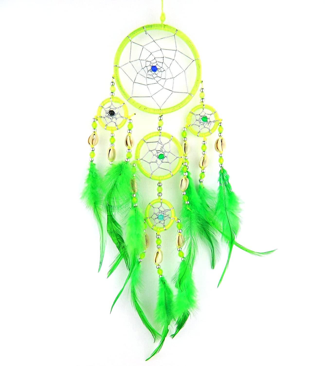 DREAMCATCHER LIME GREEN COWRIE SHELL DREAM CATCHER Bali dream catcher