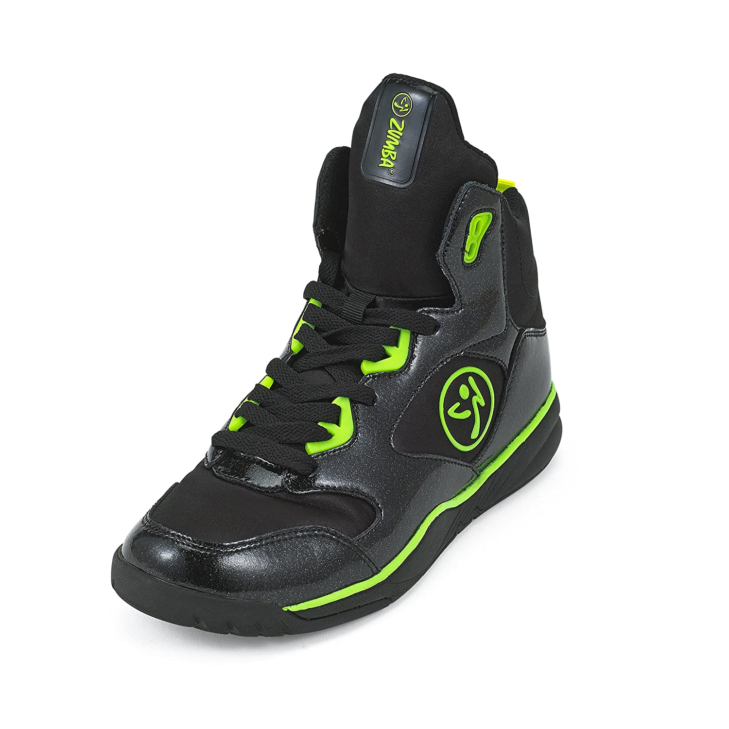 Zumba Women's Energy Boom High Top Dance Workout Sneakers with Enhanced Comfort Support B0744R39YP 6.5 B(M) US|Black