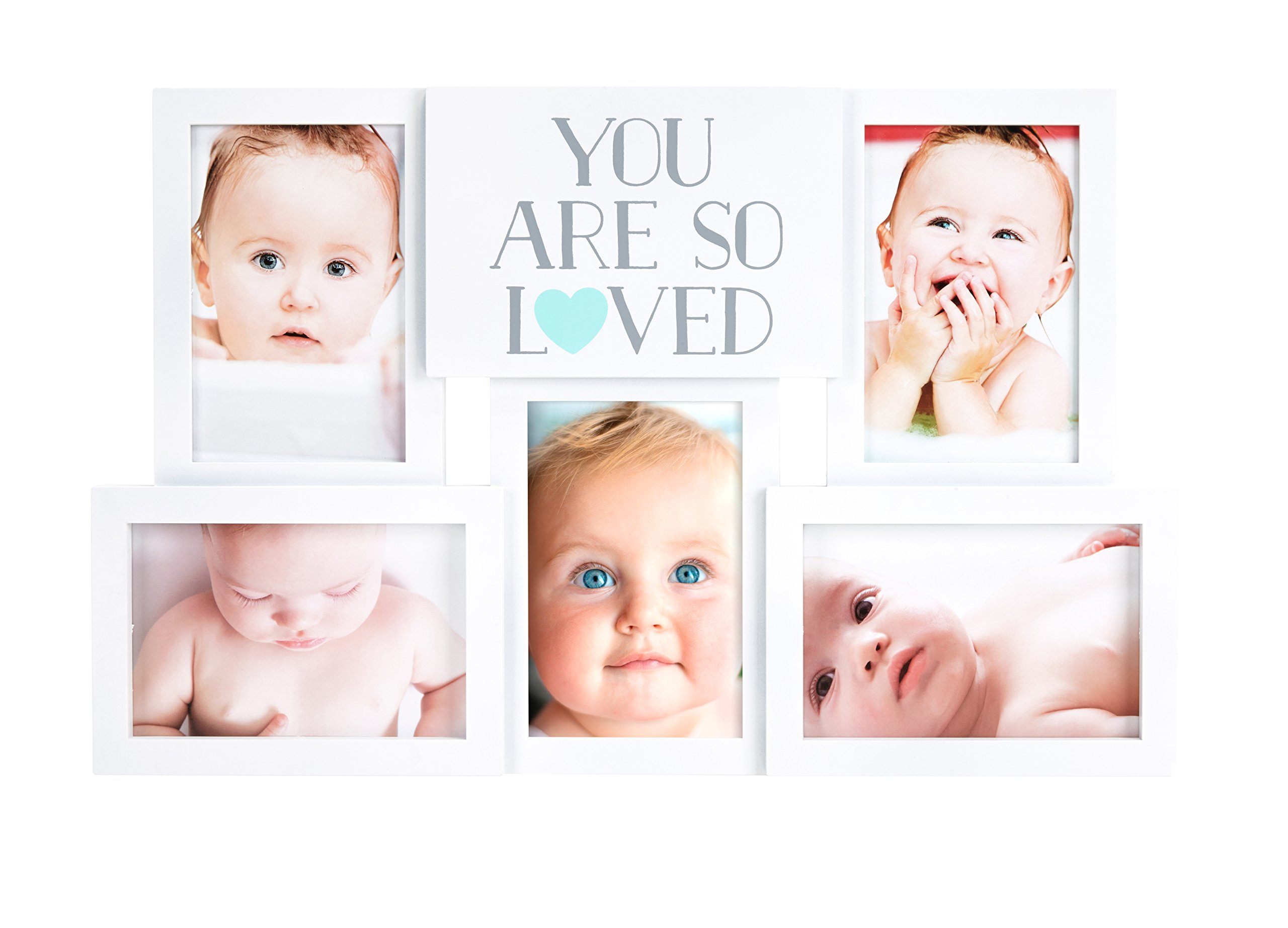 You Are So Loved Baby Picture Frame, Collage Photo Frame Displays 5 Pictures