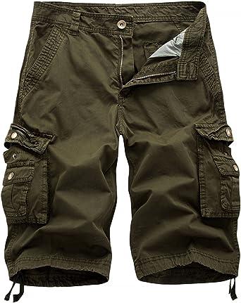 AOYOG Mens Camo Cargo Shorts Cotton