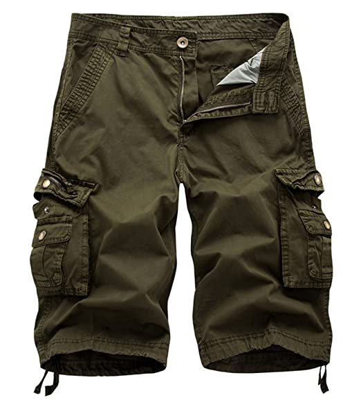 9d7bddf69a Amazon.com: DONSON Mens Cargo Shorts Cotton Relaxed Fit Camouflage ...