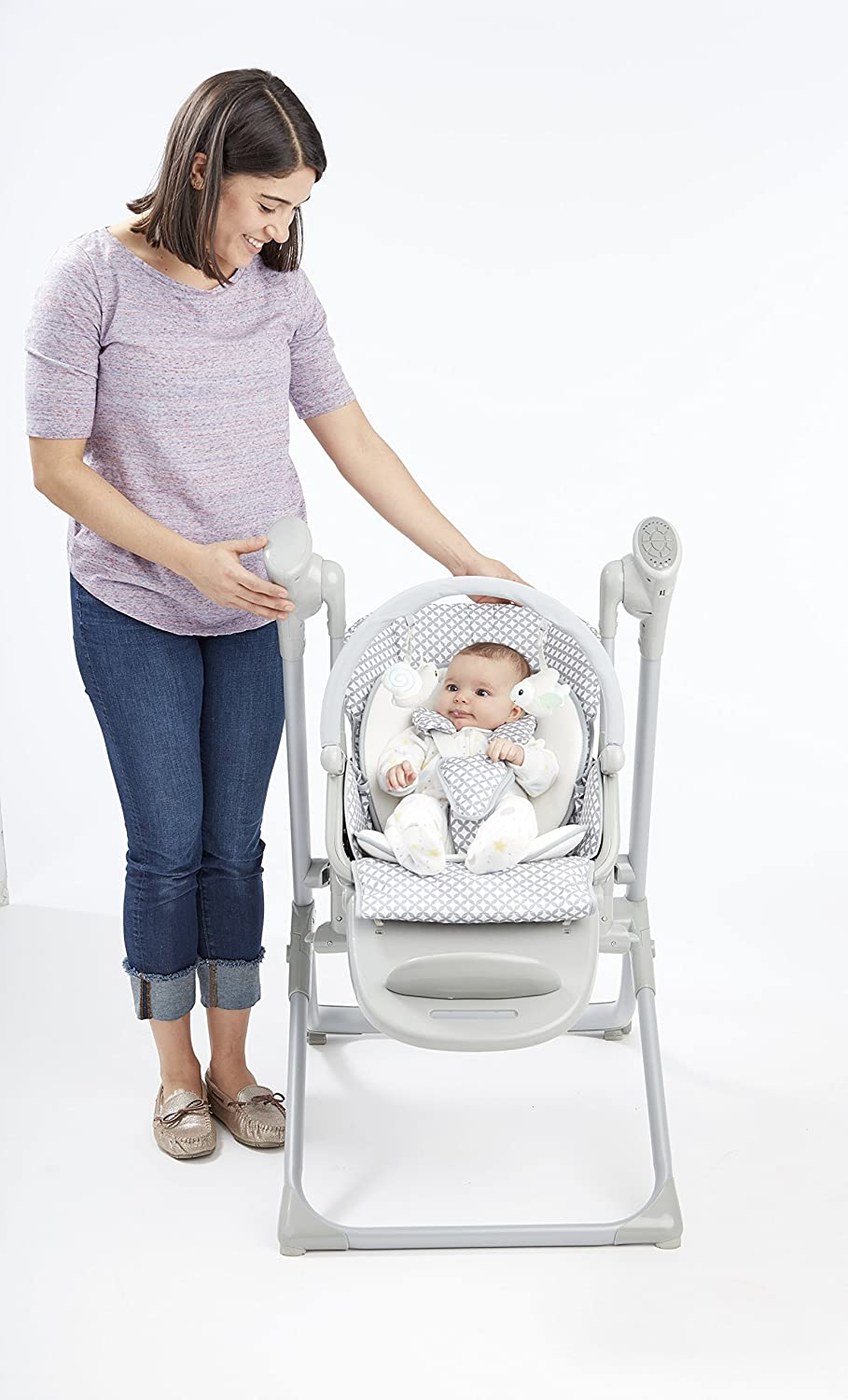81lTwLXOHGL. SL1500 9 of the Best Baby Swing for Small Spaces (Apartments) 2021