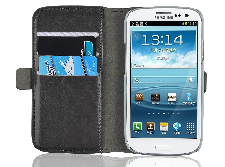 JAMMYLIZARD Carcasa para Galaxy S3. Carcasa para Galaxy S3 Neo, [cartera de lujo] cartera de piel tipo libro para Samsung Galaxy S III/Samsung Galaxy ...