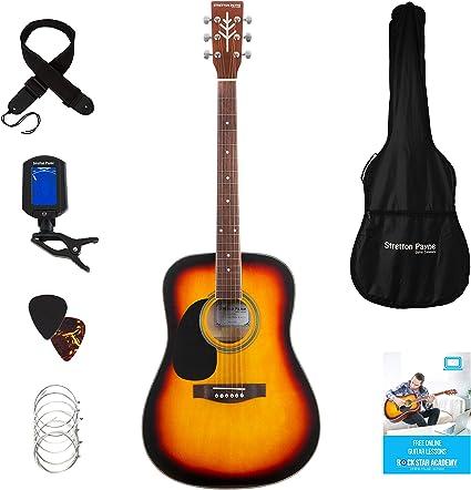 Stretton Payne D1 - Guitarra acústica para zurdos (cuerdas de ...