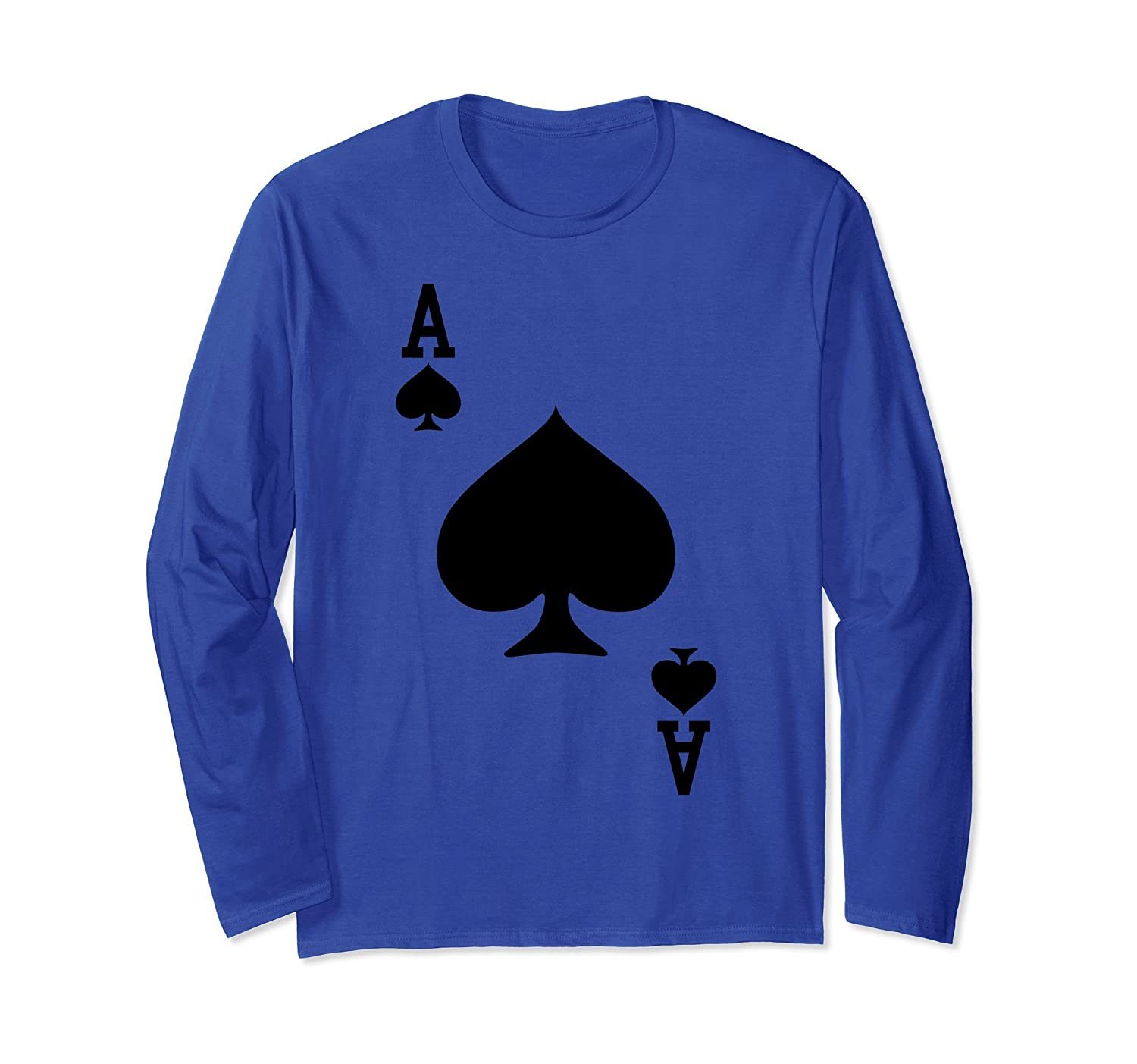 Ace of Spades - Playing Card Halloween Costume Long Sleeve-mt