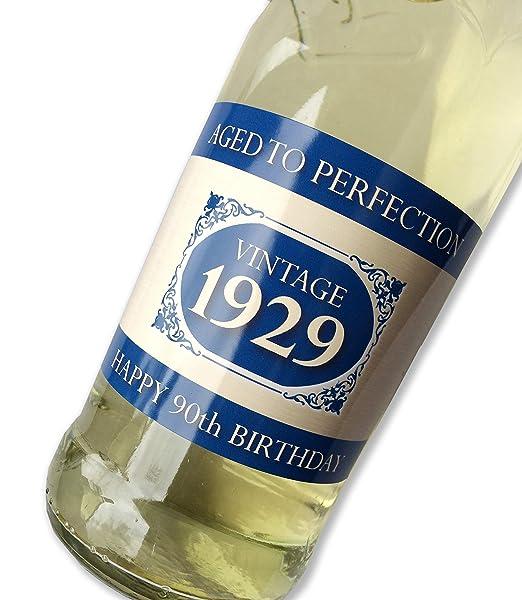 Purpleproducts 1929 Vintage Azul Feliz 90 cumpleaños 2019 ...