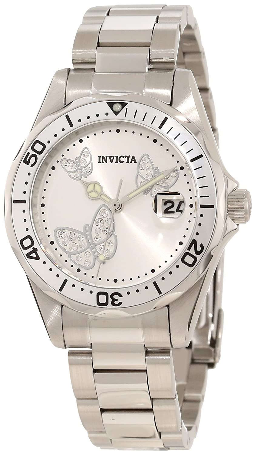 Amazon.com: Invicta Womens 12503 Pro Diver Silver Dial Watch: Invicta: Watches