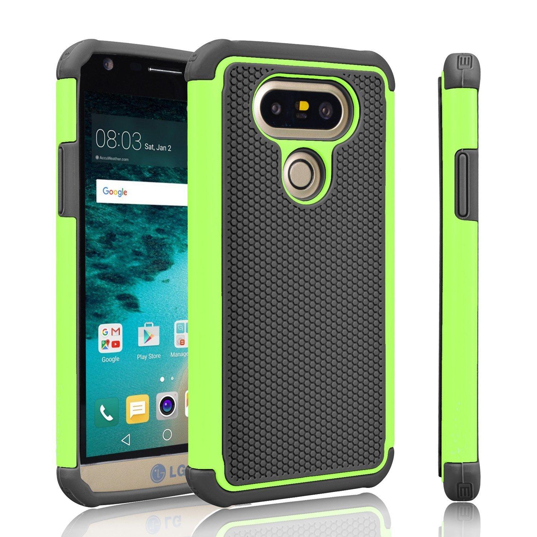 buy popular 27b5a cf8d9 LG G5 Case, Skypillar Canada, [Dual Layer][Anti-Drop] Rugged Impact Heavy  Duty Hybrid Shock Proof silicone Hard Cover for LG G5 (LGH831) - Green