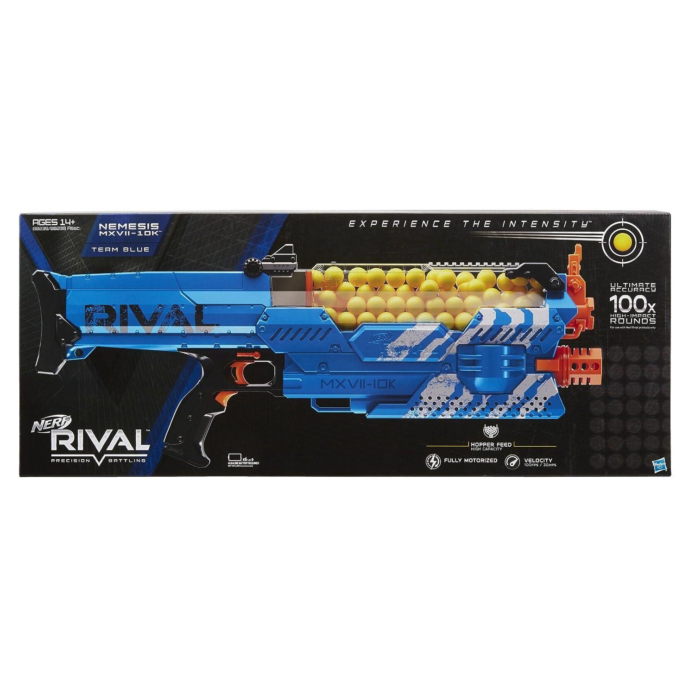 Nerf Lanzador Rival Nemesis Mxvii 10k Color Azul Amazon Com Mx  # Muebles Nemesis