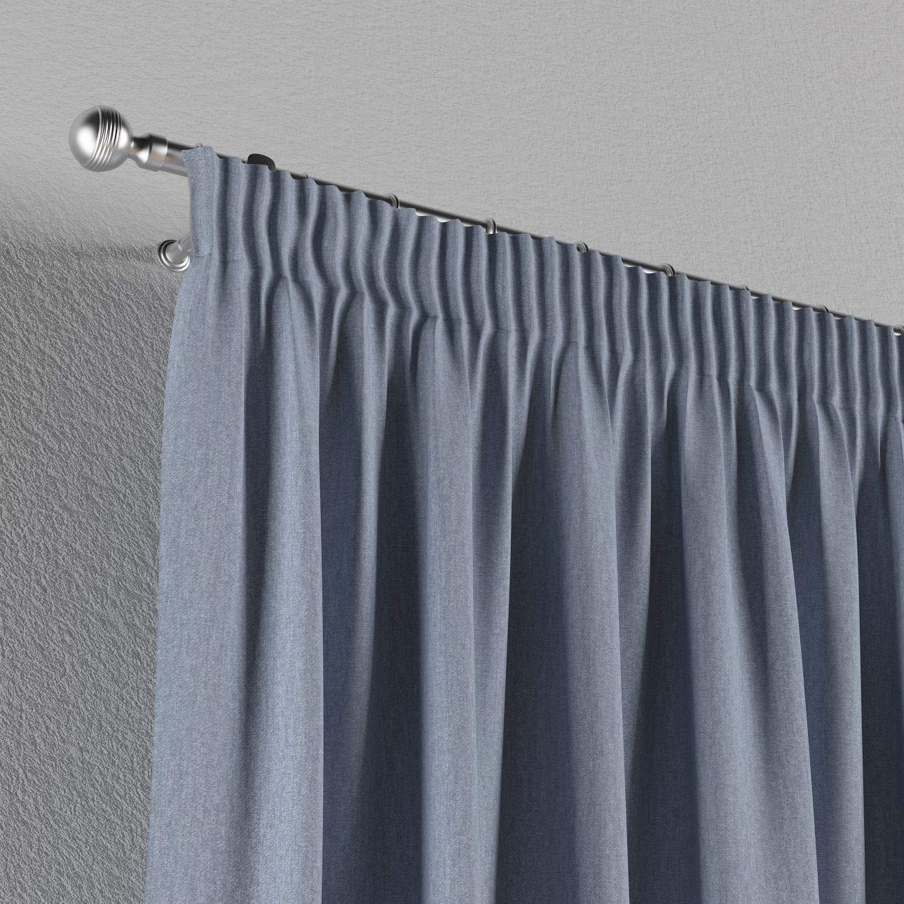 130 /× 260 cm Silber Dekoria Vorhang mit Kr/äuselband Dekoschal Blickdicht 1 Stck blau Ma/ßanfertigung m/öglich