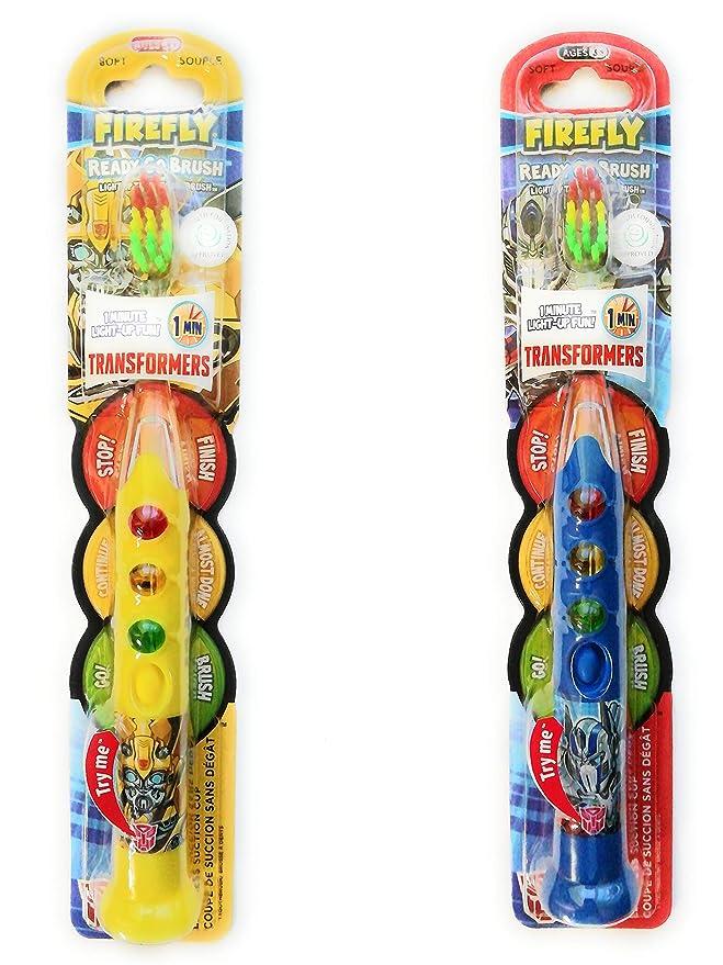 Pincel para dientes Transformers Firefly Ready Go Pincel de dientes iluminado Timer a batería Cepillo de dientes con ventosa - Diseño aleatorio - 1 ...