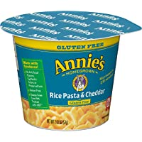 Annie's Gluten Free Rice Pasta & Cheddar Microwavable Macaroni & Cheese, 12 Cups, 2.01oz (Pack of 12)