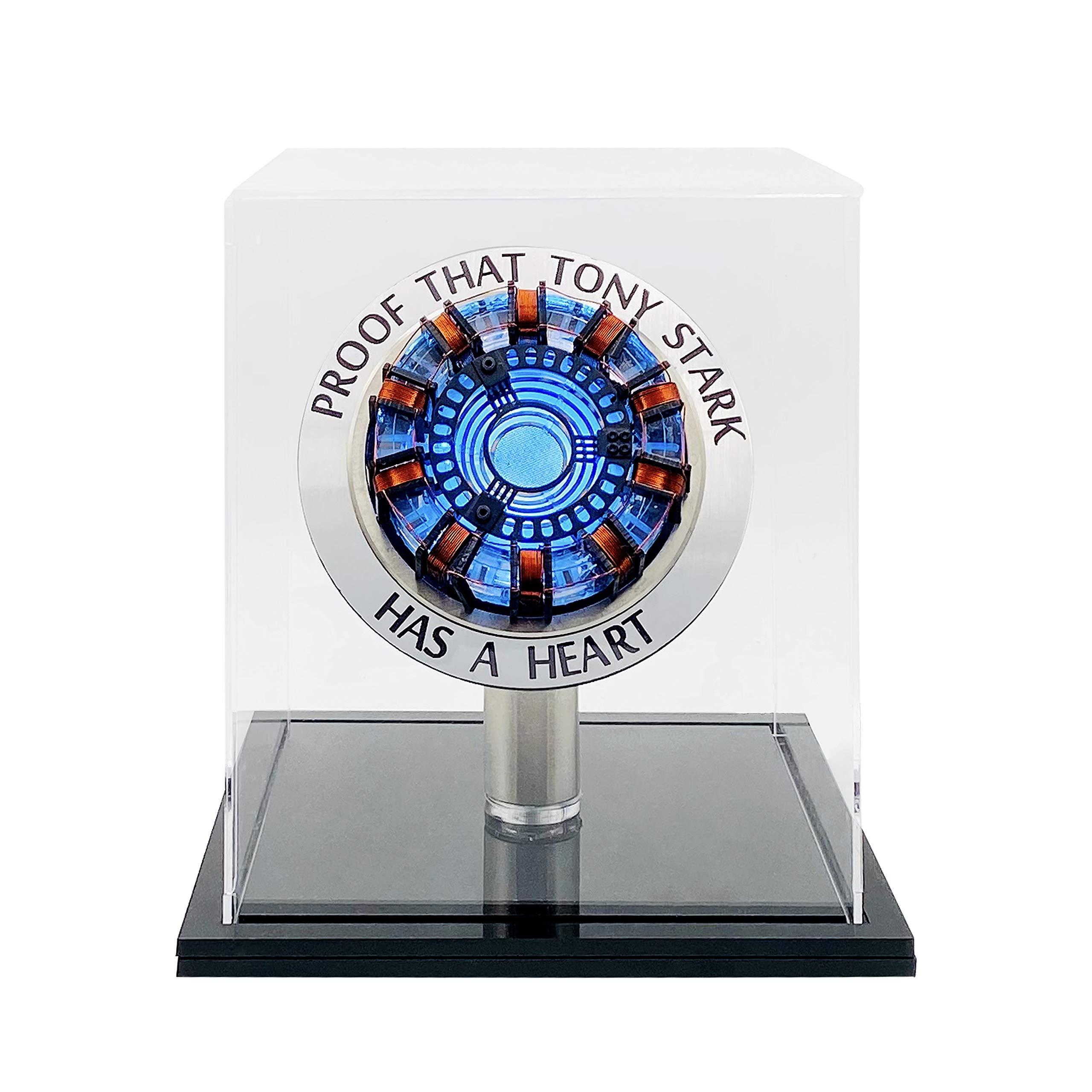 Lonyiabbi 1:1 Iron Man Arc Reactor MK1 DIY Finished Product Model Tony Stark Led Light USB with Display Box