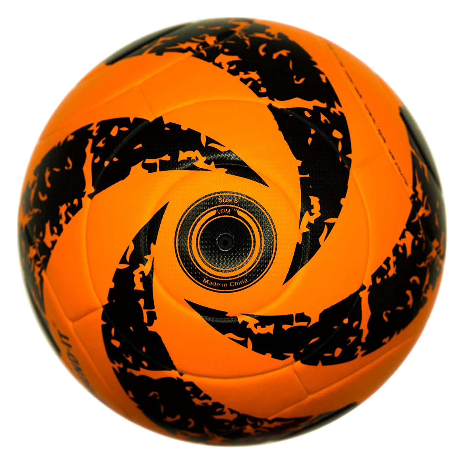 bend-itサッカー、knuckle-it Pro、サッカーボール、Official Match Ball with VPM and VRCテクノロジー B075DT3W6P 5 Orange/Black (Reverse-Curl-It Pro Amber) Orange/Black (Reverse-Curl-It Pro Amber) 5