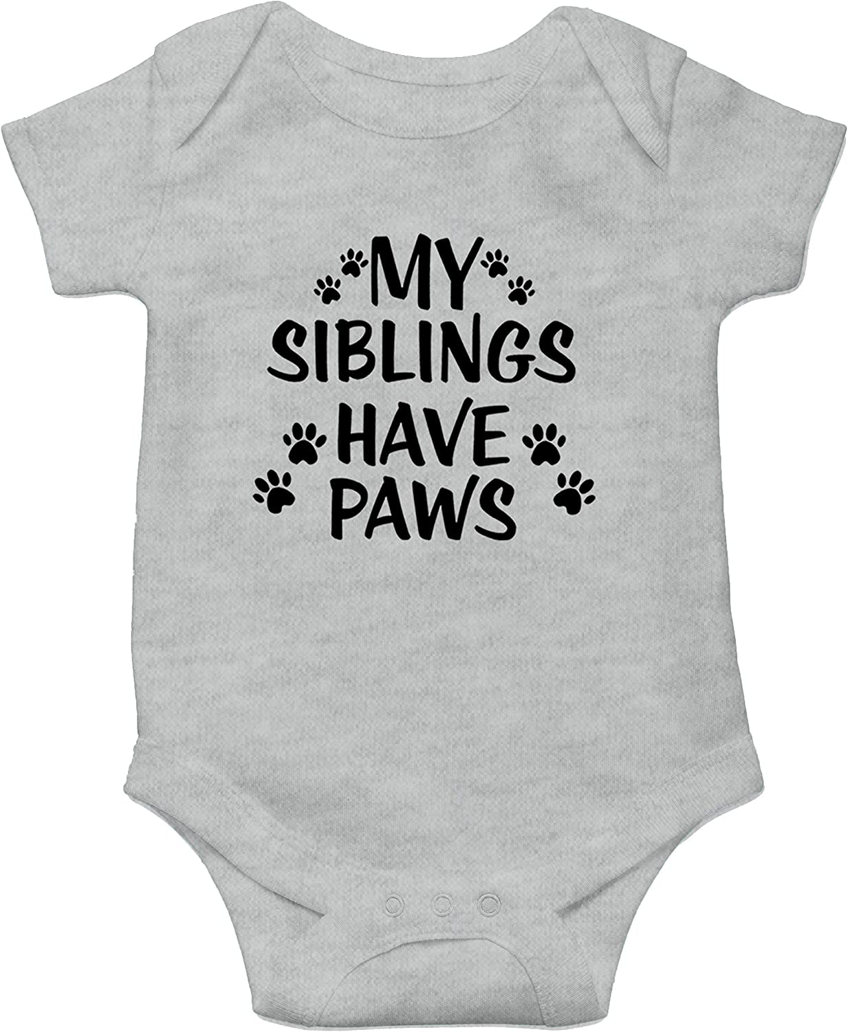 Witty Fashions My Siblings Have Paws Funny Baby Bodysuit