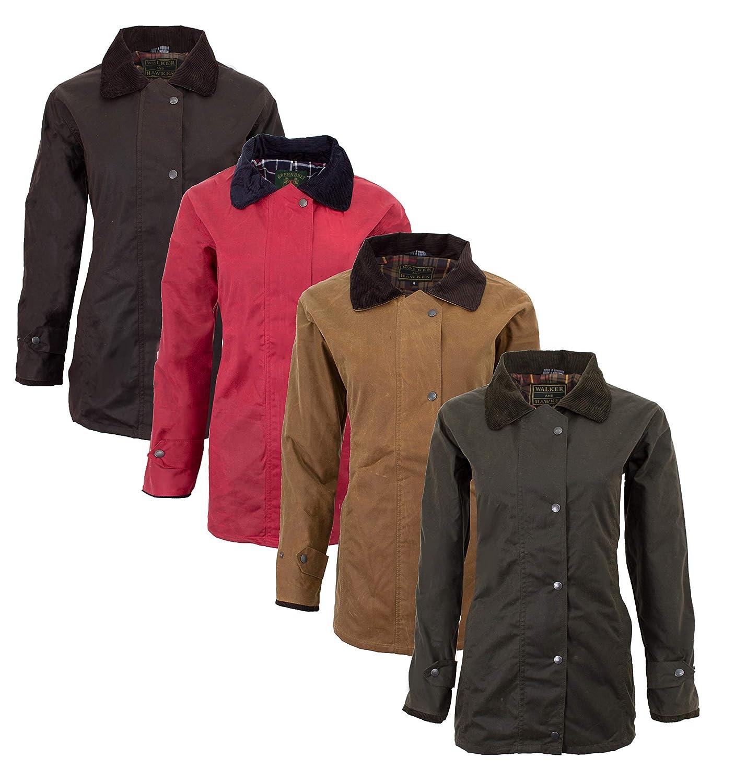 /Giacca cera antico countrywear caccia cerata Walker /& Hawkes/ colore rosso