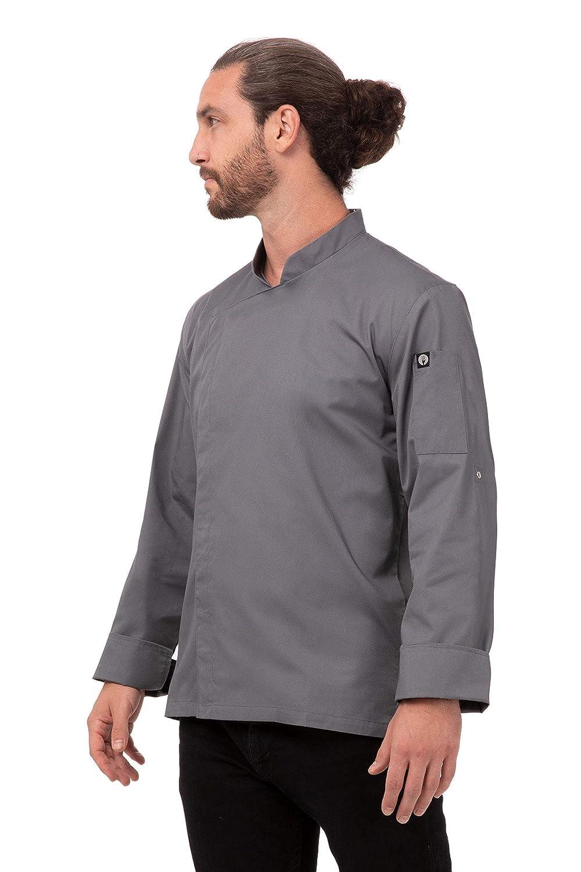 Chef Works Uomo BCMC010-P Camicia da Chef Lansing giacce da Chef
